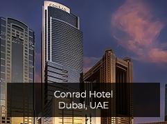 Conrad Hotel in Dubai MirrorVue Mirror TV Client