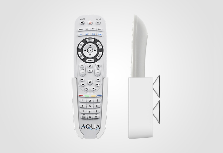 MirrorVue Mirror TV Aqua Remote Control White in Front and Side View