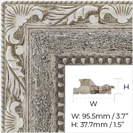 Genuine leather frame for your new beautiful mirror TV.